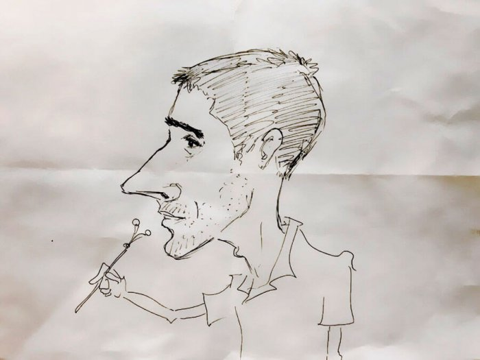 caricatura juan daniel sobrado rubio