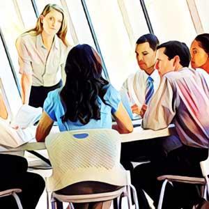 discusión en grupo formación