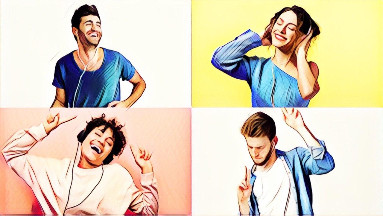 personas bailando musica reunion online zoom