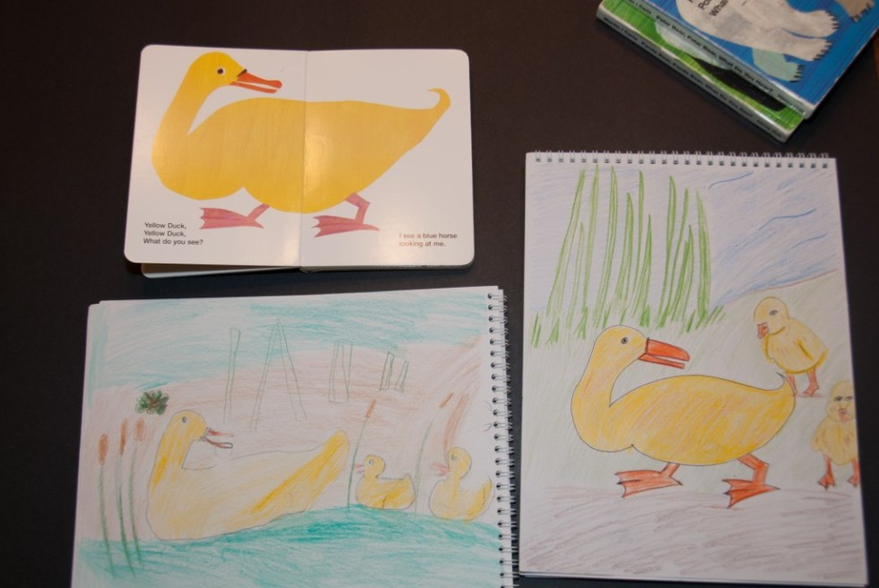 Using Eric Carle's Brown Bear for drawing inspiration! - www.learningmama.com