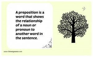 Parts of speech print - preposition FREE Printables