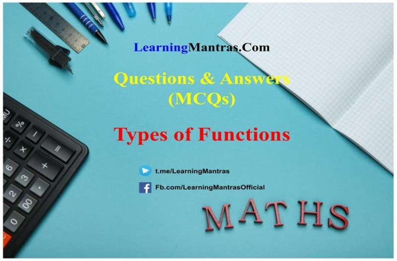 MCQ on Types of Functions