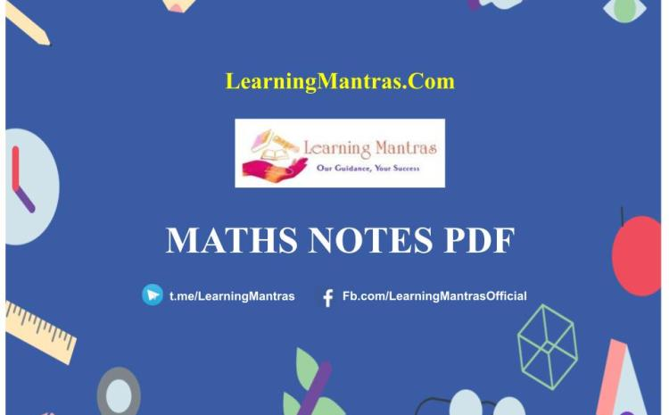 Maths Notes PDF & Questions Free Download – Shortcut Tricks (Topic-Wise)