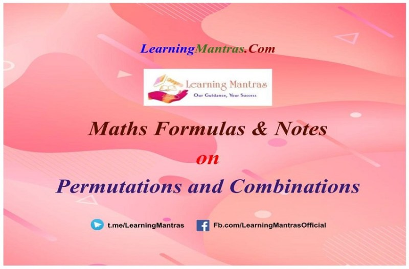 Permutations and Combinations Notes PDF