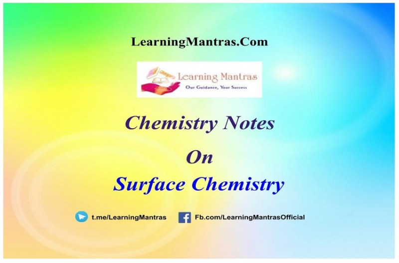 Surface Chemistry Handwritten Notes PDF