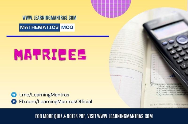 MCQ on Matrices