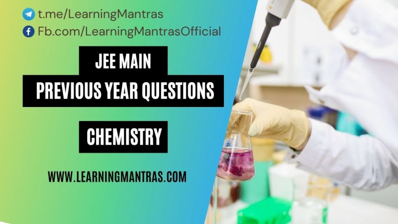 JEE Main Chemistry Previous Year