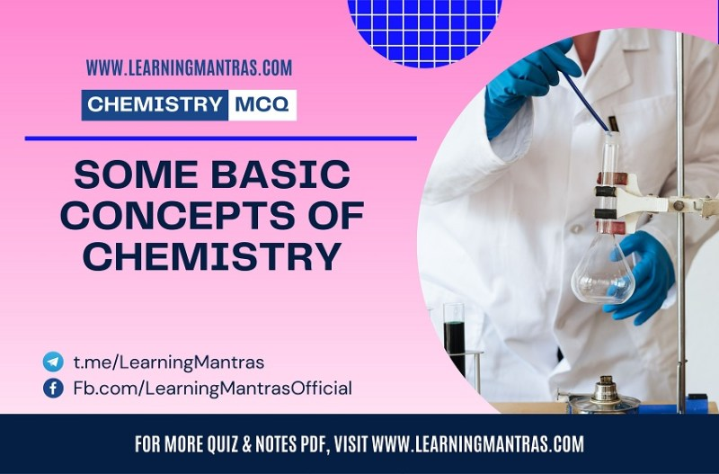 MCQ on Some Basic Concepts of Chemistry