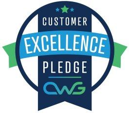 El logotipo de una excelente participación del cliente.