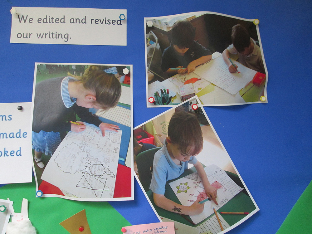 Children given ownership by designing their own non-fiction pages