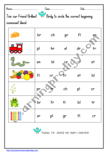 Preschool And Kindergarten Consonants Worksheet Blending Worksheet Phonics Worksheet Learningprodigy English English Blending English G1 Subjects