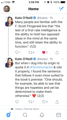Kate O'Neil Twitter Comment