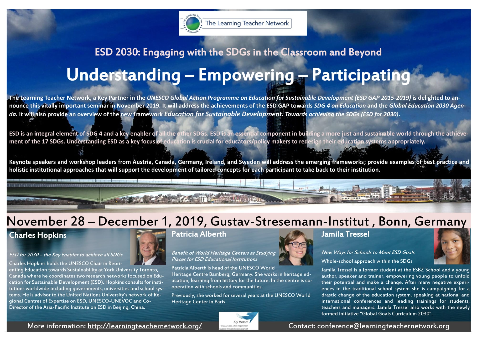 Here's the Poster for Bonn 2019 - ESD 2030: Engaging with