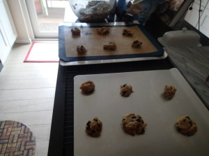 Family Favorite Pecan Chocolate Chip Cookie-Before Baking