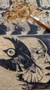 Proyecto'Ace, Week 2: Drawing and Carving the Images