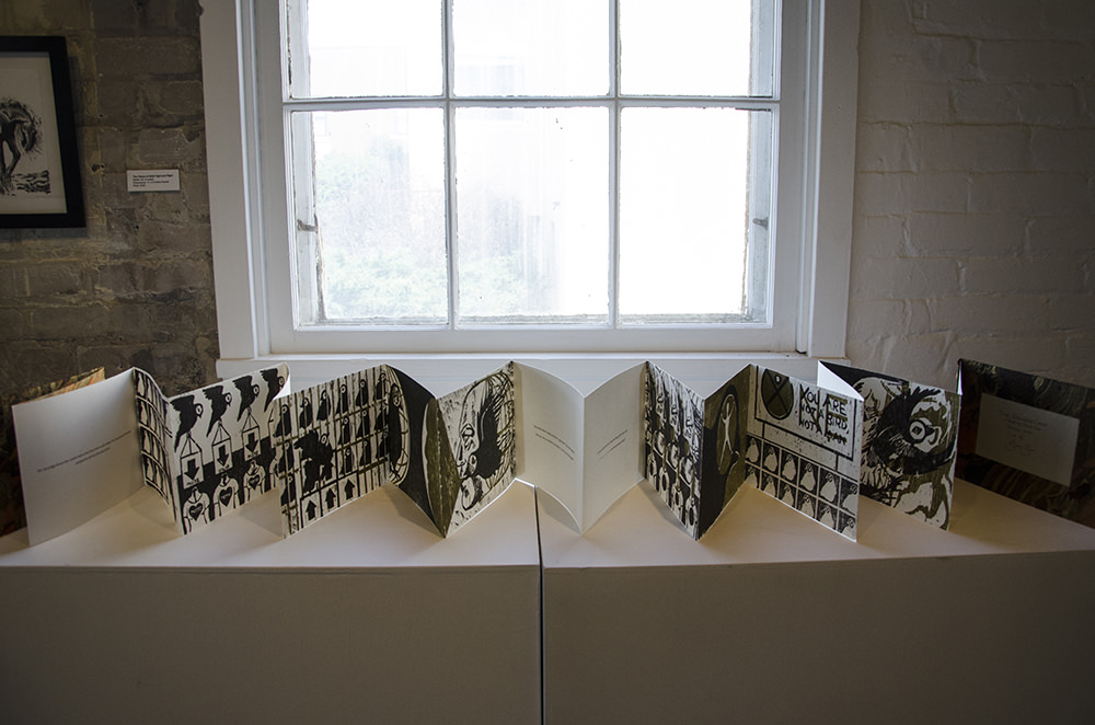 """""""The Golden Cage,"""" by Jenie Gao, on view at Arts + Literatury Laboratory, Madison, WI."""