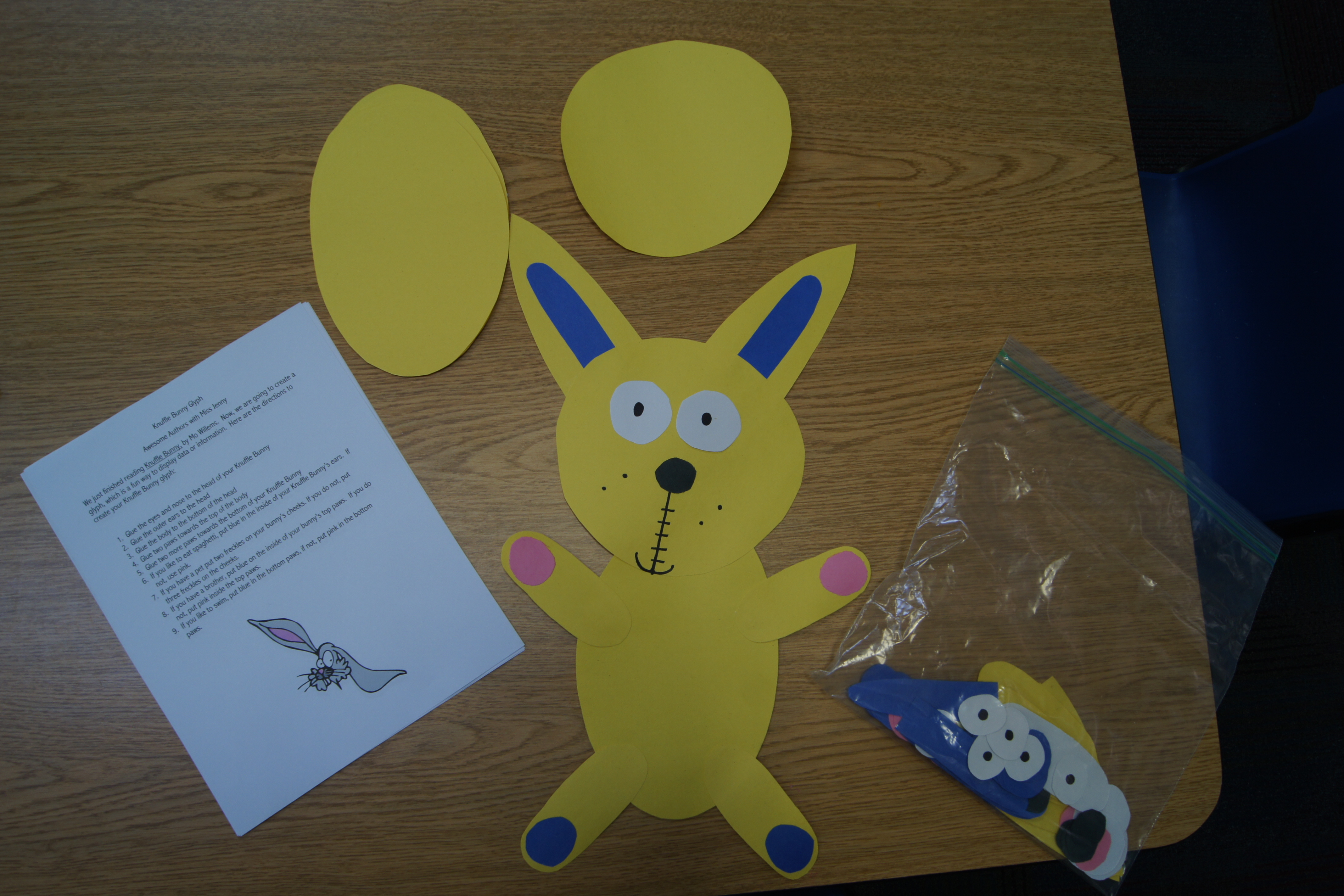 Mo Willems Author Study Knuffle Bunny Glyph