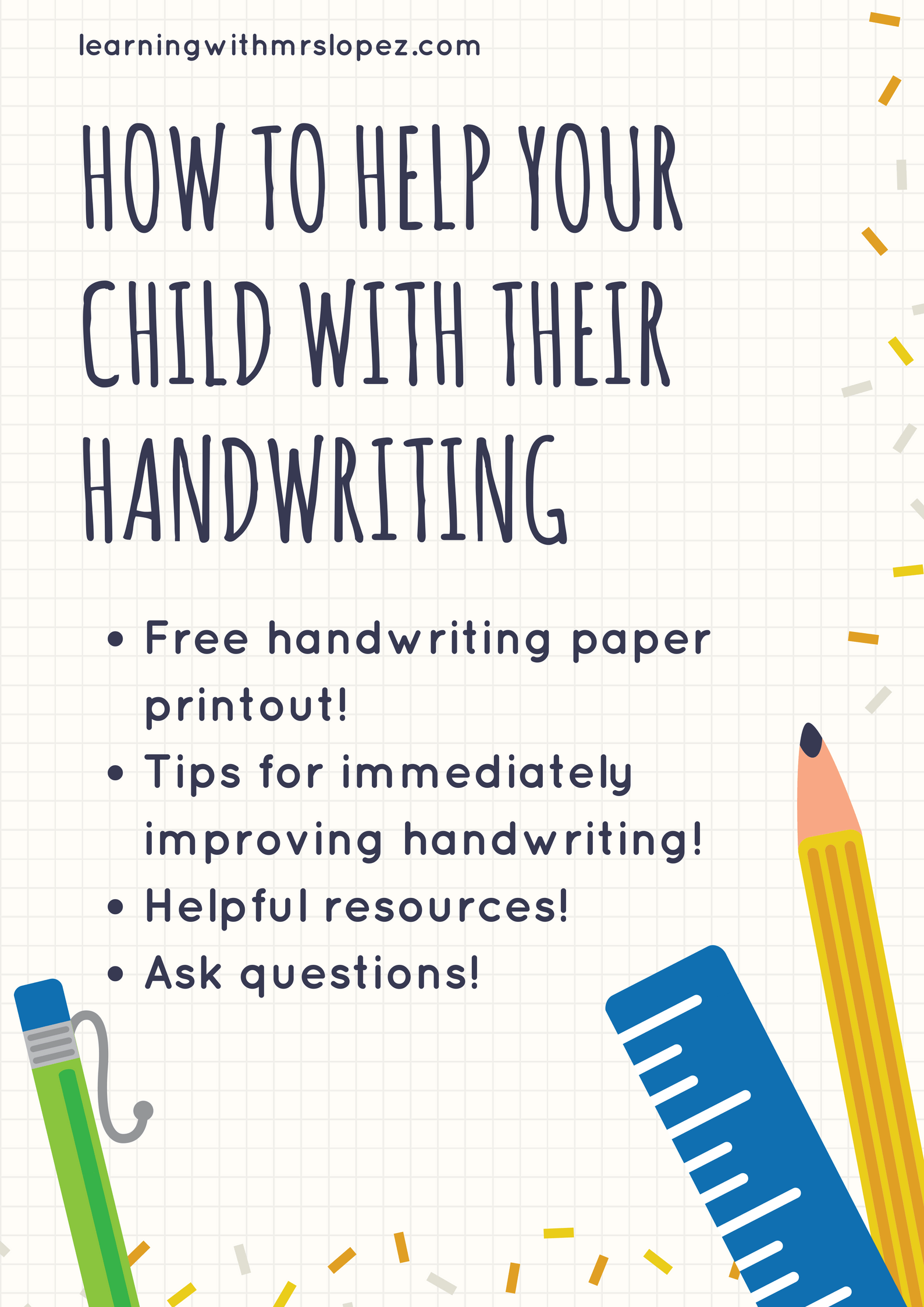 How To Help Your Child With Their Handwriting Learning