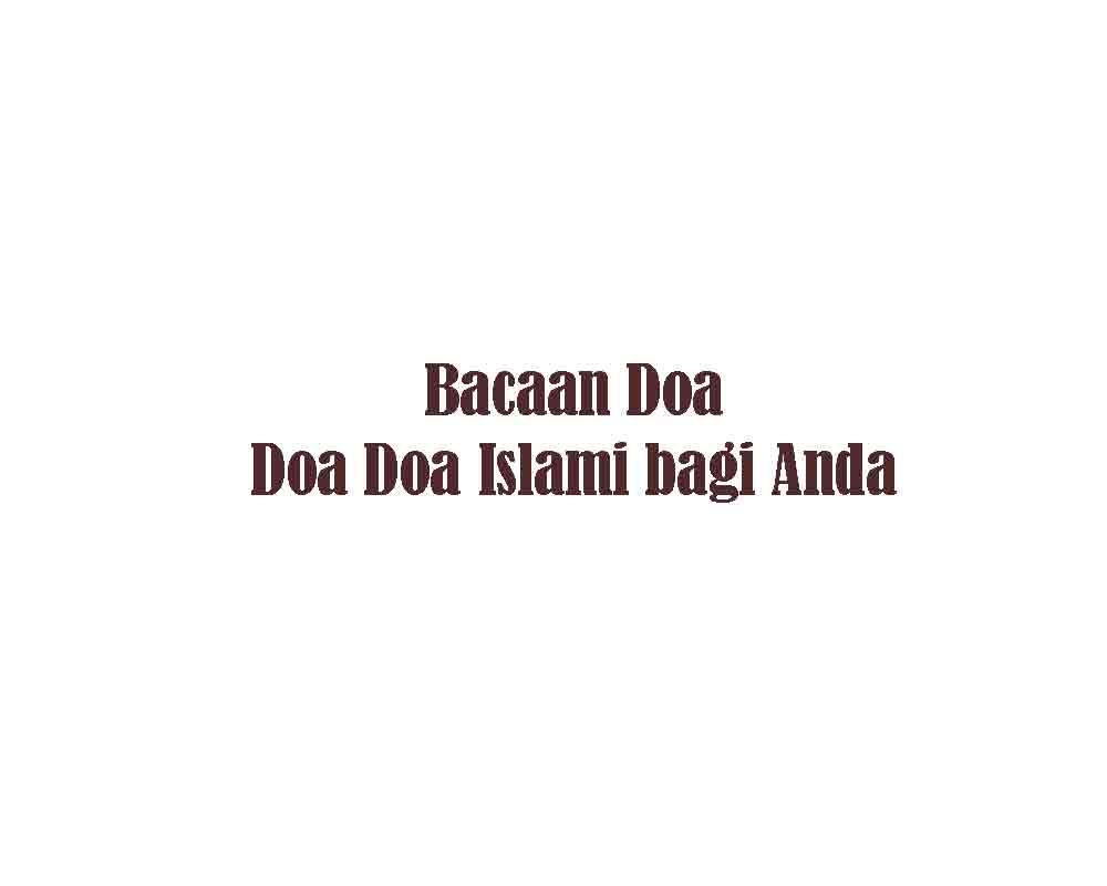 Kata Kunci Doa Doa Learn Is Easy