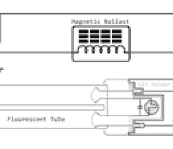 2pin fluorescent Wiring Diagram