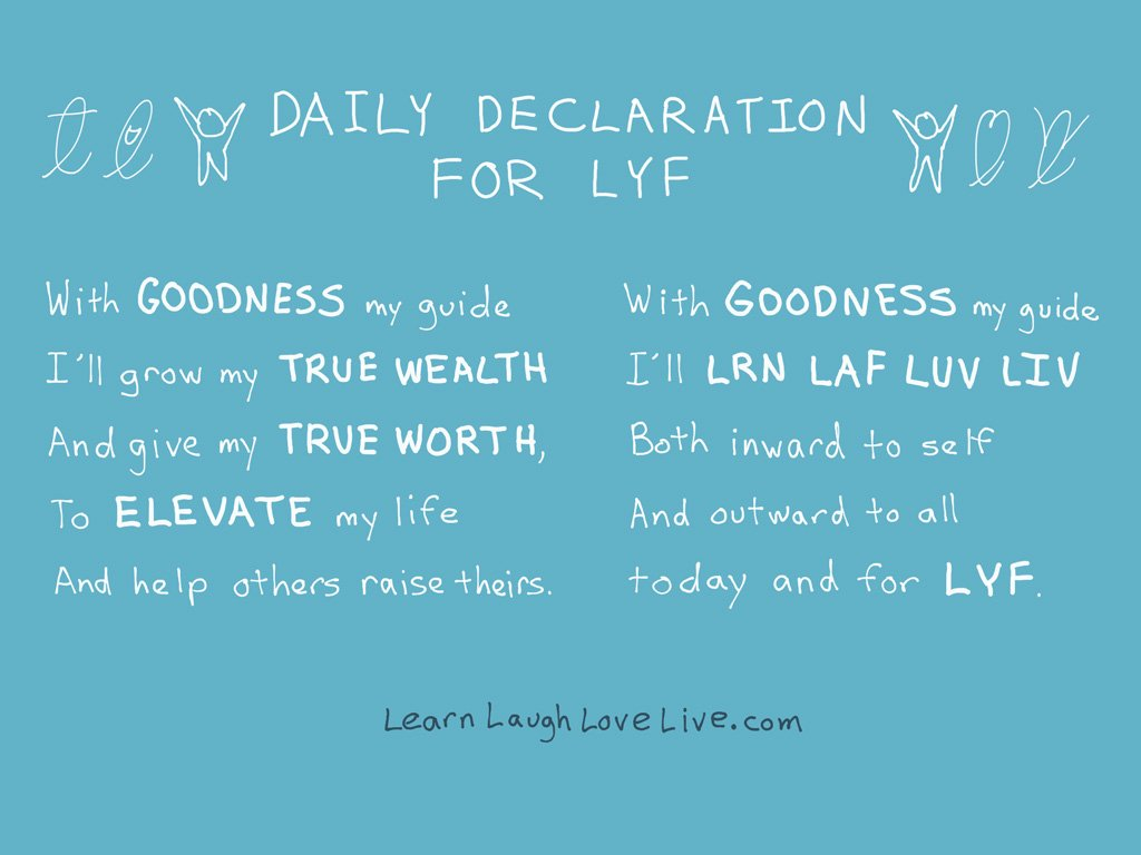 Daily Declaration for LYF