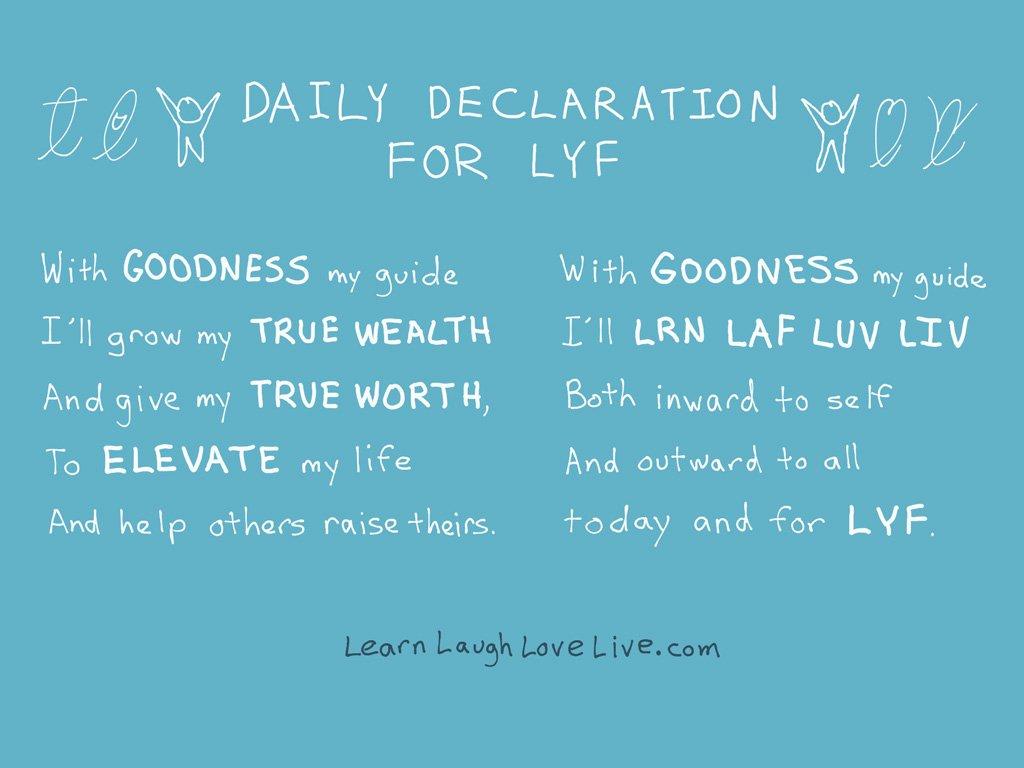 Daily Declaration for LYF