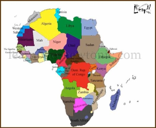 Learn the Map of Africa