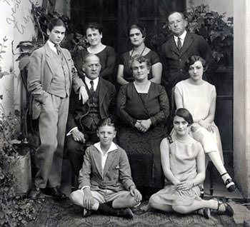 Frida Kahlo with her family