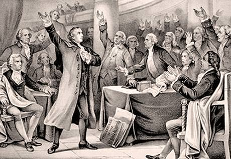 Patrick Henry Liberty Speech Painting