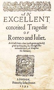 Romeo and Juliet Title Page