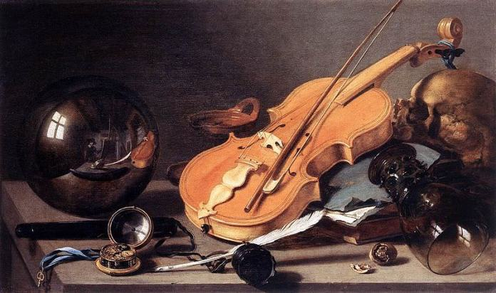 Vanitas with Violin and Glass Ball - Pieter Claesz