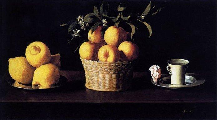 Still Life with Lemons, Oranges and a Rose - Zurbaran