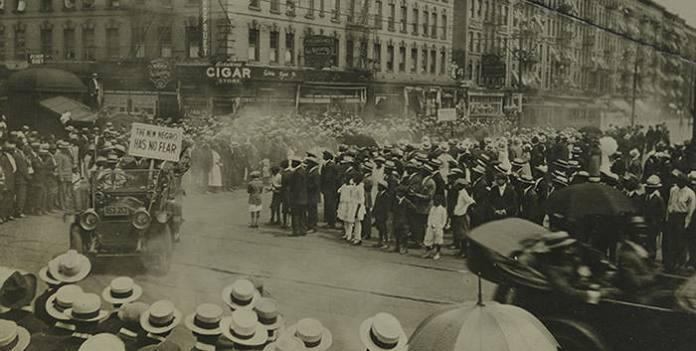 A 1924 parade on Lenox Avenue, Harlem