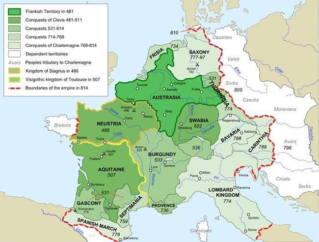 Frankish Kingdom Map