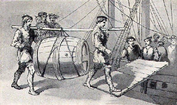 Balboa's escape from Hispaniola