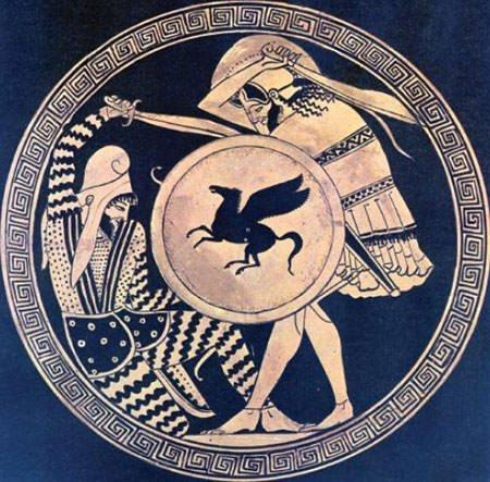 Persian warrior Vs Greek hoplite