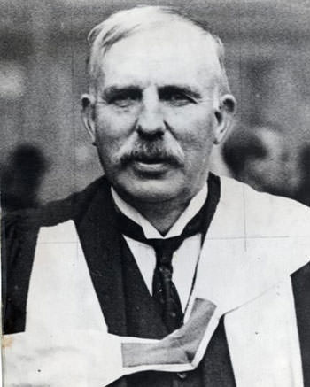 Ernest Rutherford in his later years