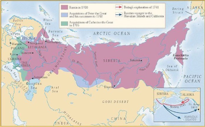 Russian Empire Map