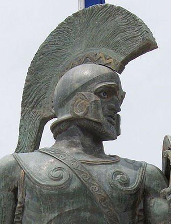 Leonidas I of Sparta statue