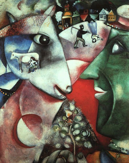 I and the Village (1911) - Marc Chagall
