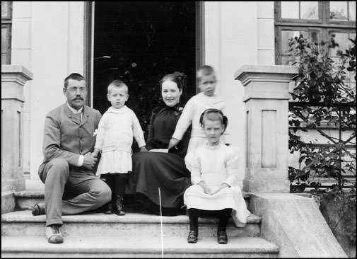 The Bohr family - Niels Bohr's parents and their kids