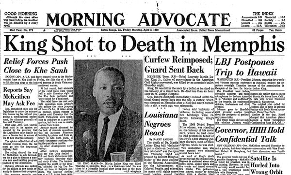 Martin Luther King Jr. assassination article