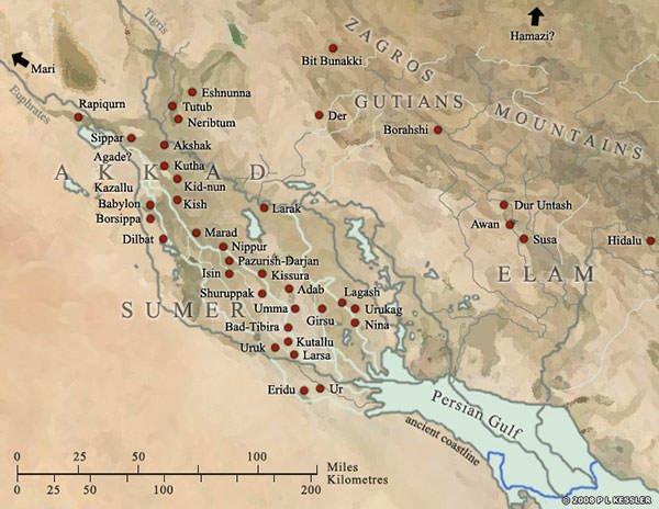 Map of Sumer