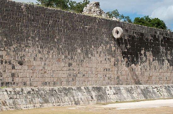 Mayan Ball Court wall