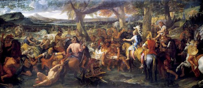 Battle of the Hydaspes painting
