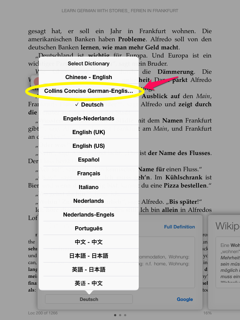 How To Install 3rd Party Dictionaries To The Kindle Ios App Add A  Germanenglish Dictionary To