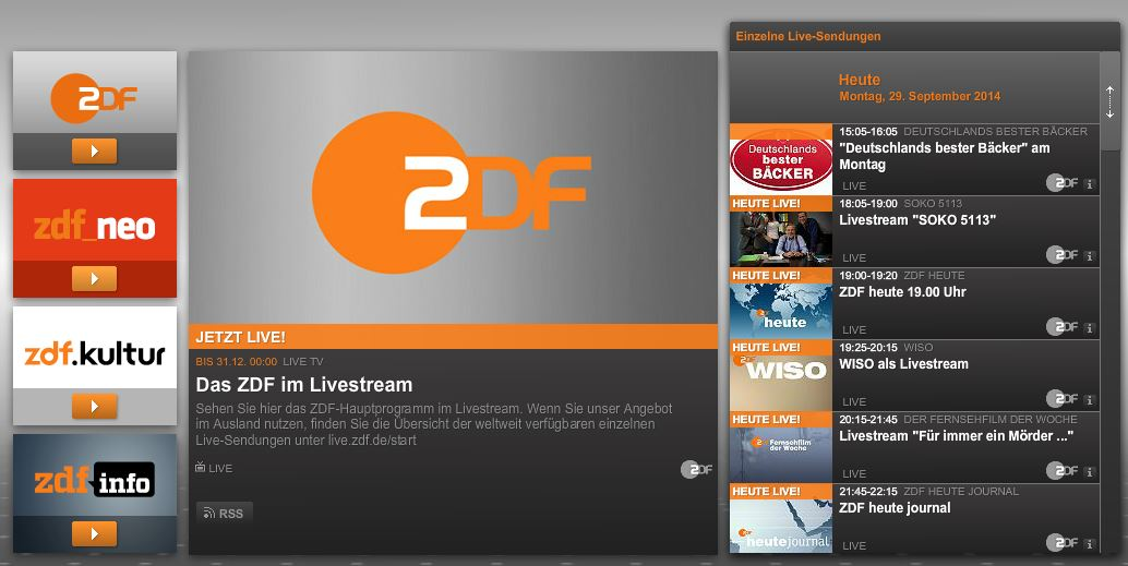 zdf mediathek live