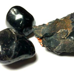 black onyx tumbled & rough