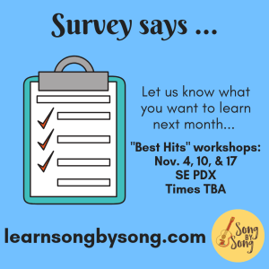 Ad for survey of workshops in November