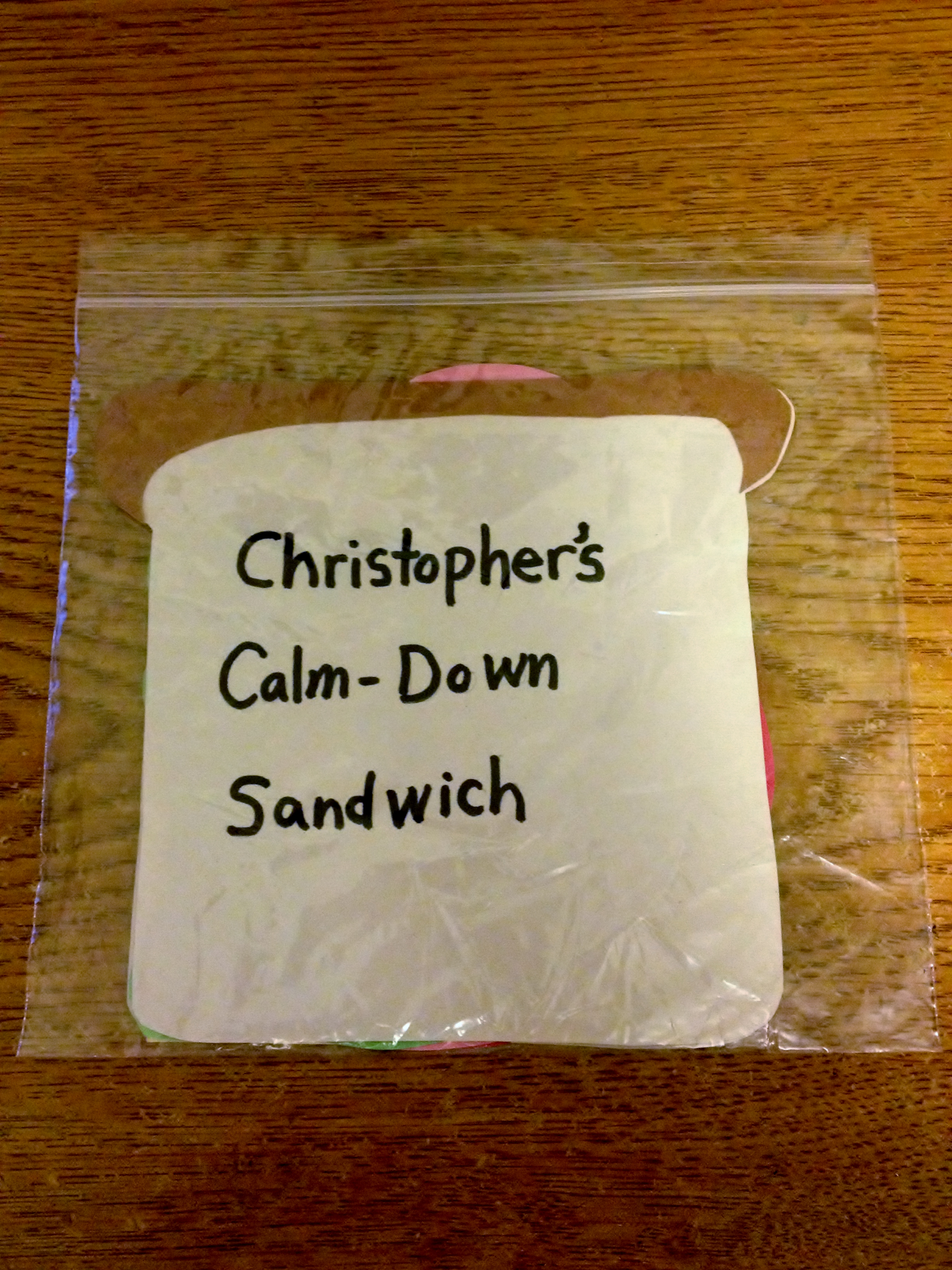 Calm Down Sandwich